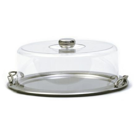 Cake round tray with transparent coverPicture